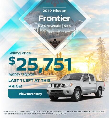 2019 Nissan Frontier SV Crewcab | 4x4 - Jan