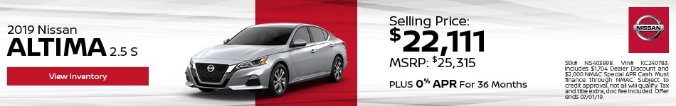 2019 Nissan Altima S - Lease