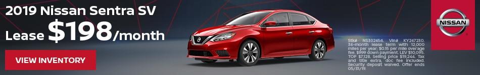 2019 Nissan Sentra SV - Lease