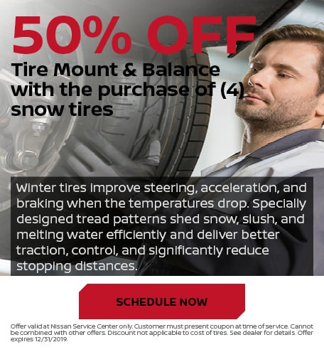 50% Off Tire Mount & Balance with the purchase of 4 snow tires