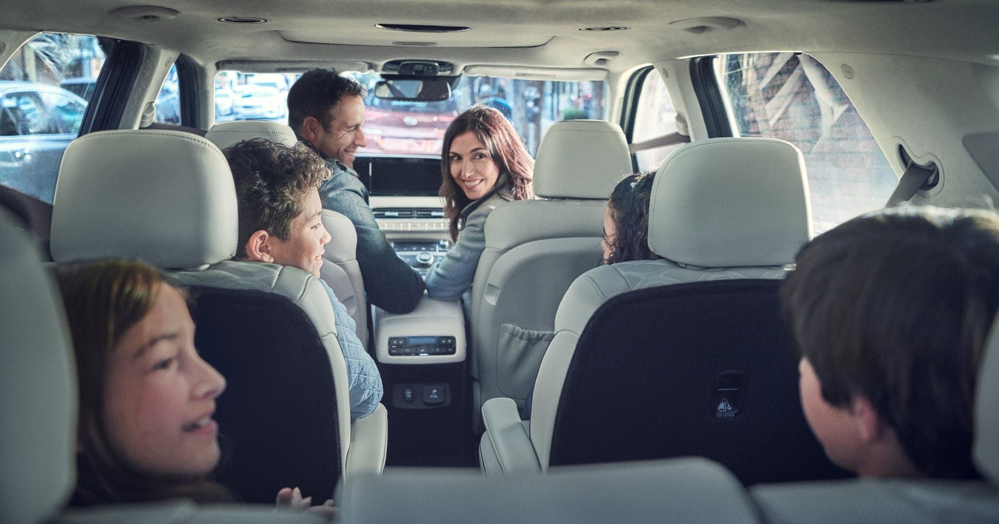 Family Driving in a 2021 Hyundai Palisade