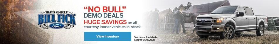 No Bull Demo Deals!