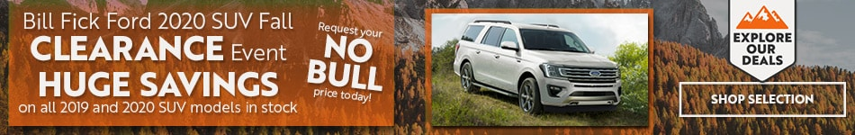 Bill Fick Ford 2020 SUV Fall Clearance Event
