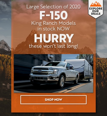 Large Selection of 2020 F-150 King Ranch Models in stock NOW
