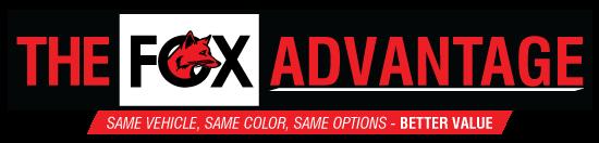 The Fox Advantage logo banner