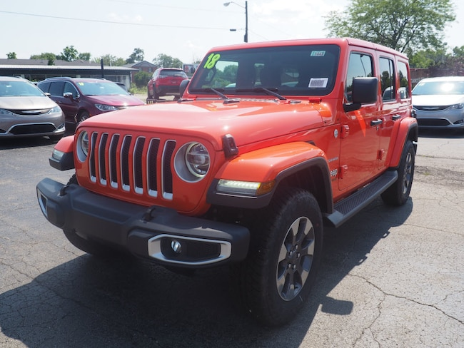 New 2018 Jeep Wrangler UNLIMITED SAHARA 4X4 Sport Utility in Muncie