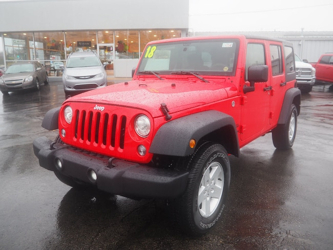 New 2018 Jeep Wrangler Unlimited WRANGLER JK UNLIMITED SPORT S 4X4 Sport Utility in Muncie