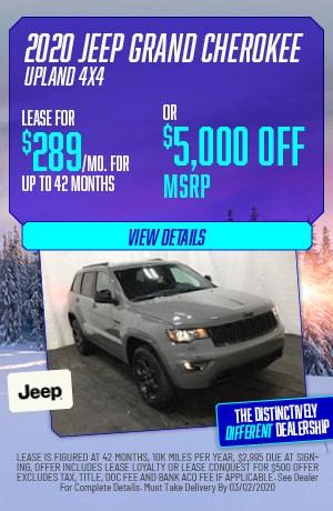 February   2020 Jeep Grand Cherokee Upland   Lease