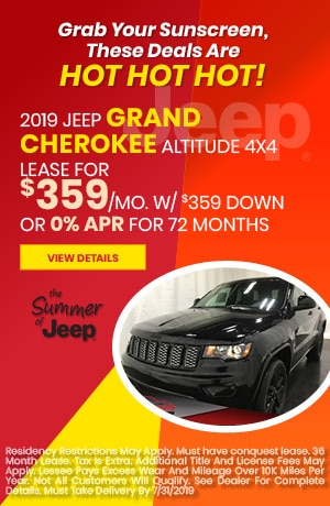 July 2019 Grand Cherokee Special