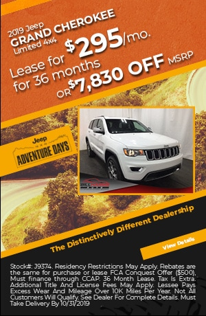 October 2019 Jeep Grand Cherokee Lease Special