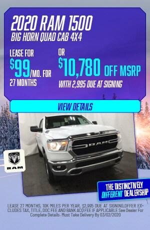 February | 2020 Ram 1500 Big Horn Quad Cab | Lease