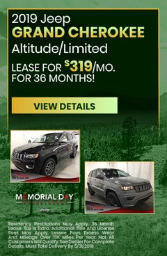 May 2019 Jeep Grand Cherokee Lease Special
