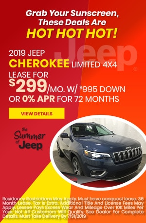July 2019 Cherokee Special