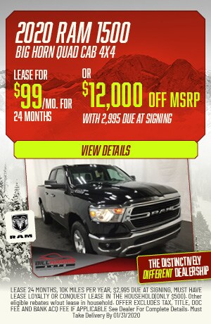 January | 2020 | Ram 1500 Big Horn Quad Cab 4x4 | Lease