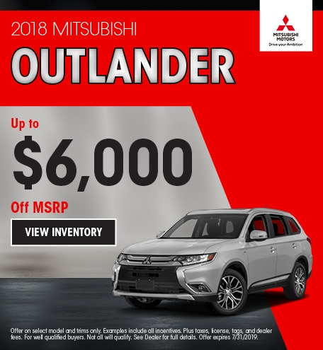 Up to $6,000 of Remaining 2018 Outlander Models
