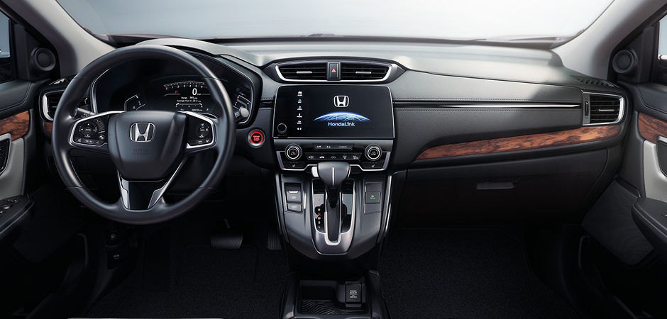 The interior of a Honda CR-V