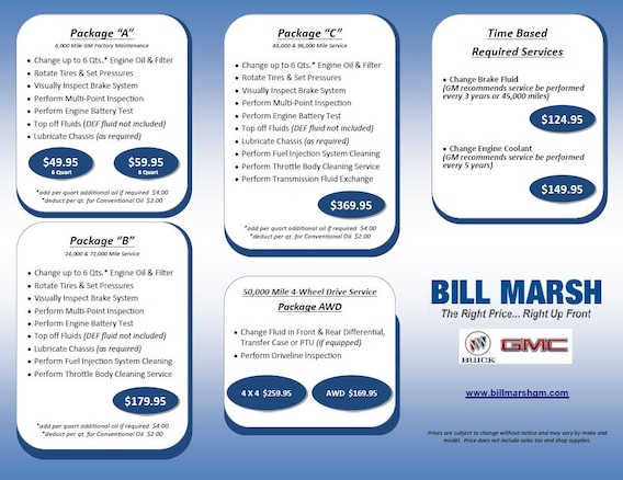 Buick GMC Services   Bill Marsh Auto Group