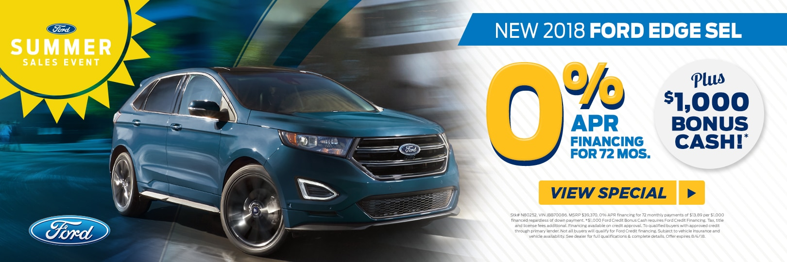 Ford Edge  Apr For  Mos At Fred Beans Ford Of Newtown