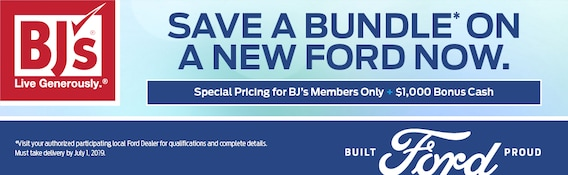 Bj S Special Pricing For Bj S Members Only 1 000 Bonus Cash Fred Beans Ford Newtown