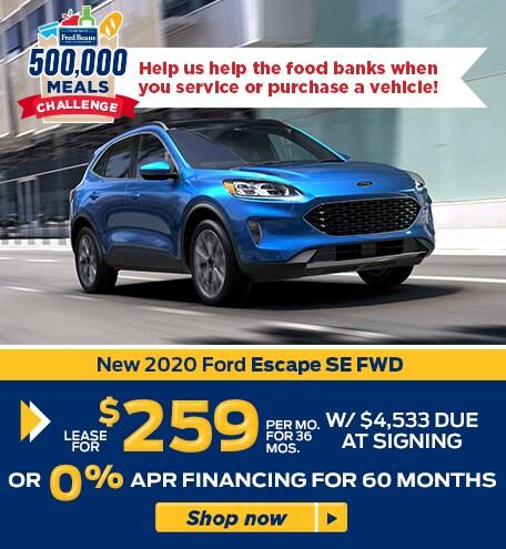 New 2020 Ford Escape SE FWD