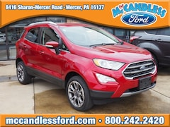 New 2018 Ford EcoSport Titanium SUV MAJ6P1WLXJC168117 for sale in Mercer, PA