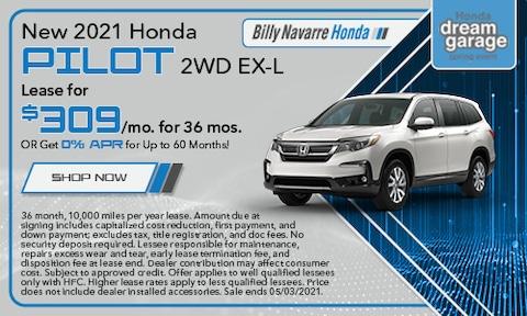 New 2021 Honda Pilot 2WD EX-L  - April