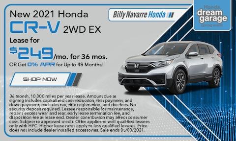 New 2021 Honda CR-V 2WD EX - April