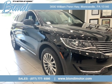 2018 Lincoln MKX Select Plus AWD SUV w/Climate Pkg.