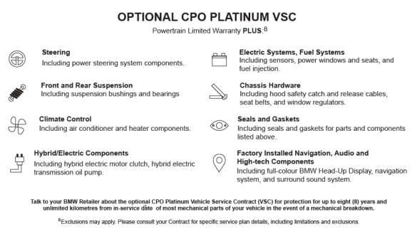 Optional CPO Platinum VSC