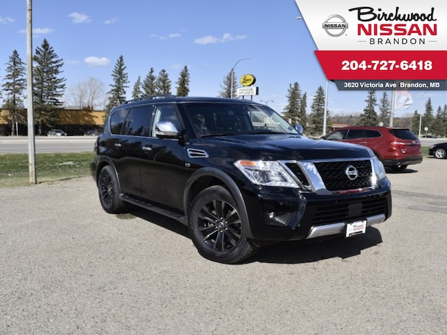 2017 Nissan Armada Platinum Edition DVD/AWD/Third Row/360 cam/LCA SUV