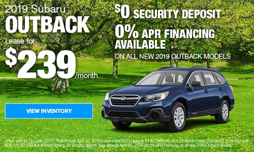 April 2019 Outback Offers