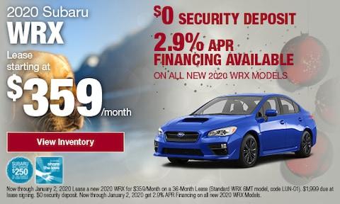 December WRX Offers at Bird Road Subaru