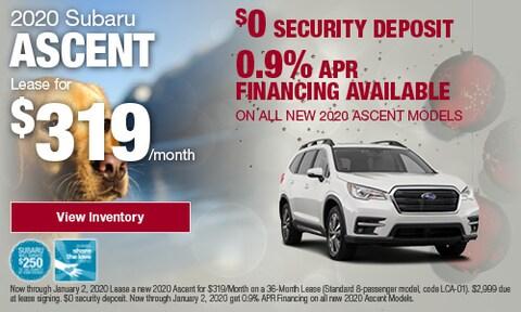 December Ascent Offers at Bird Road Subaru