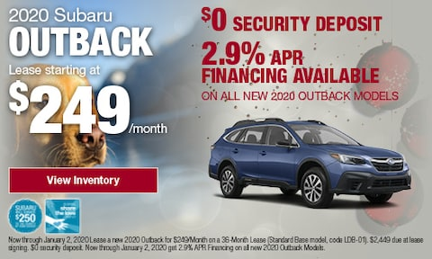 December Outback Offers at Bird Road Subaru