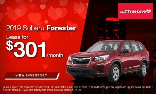 2019 Forester Lease Offer at Bird Road Subaru