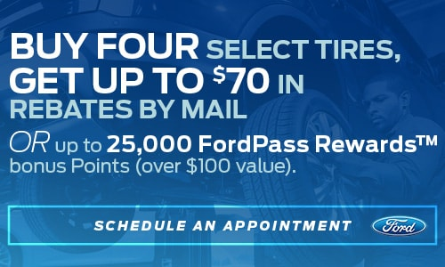 Buy Four Select Tires, Get Up To $70 in Rebates by Mail