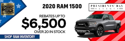 President's Day Savings on All 2020 Ram 1500 Inventory