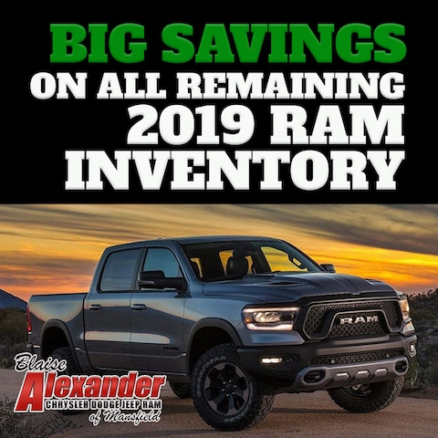Big Savings on All Remaining 2019 Ram Inventory
