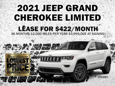 Lease a New 2021 Jeep Grand Cherokee Limited as low as $422 per month