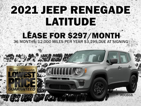 Lease a 2021 Jeep Renegade Latitude for as low as $297 per month