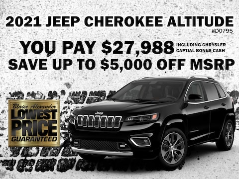 Save Over $5,000 on a New 2021 Jeep Cherokee Altitude