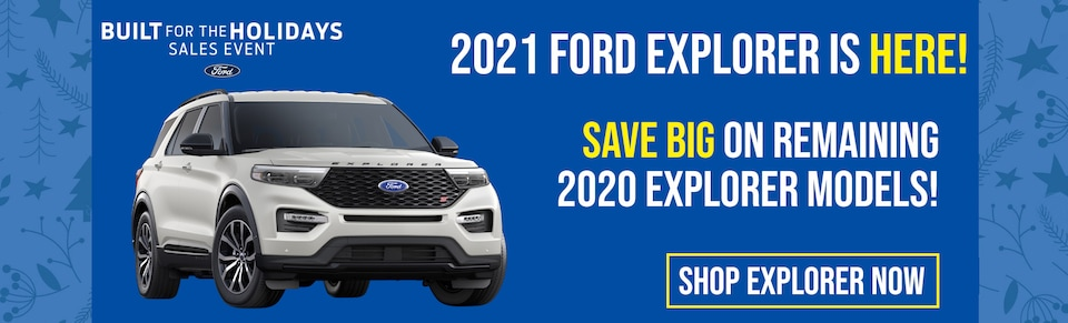 Drive off the lot in your New Ford Explorer at Blaise Alexander Ford