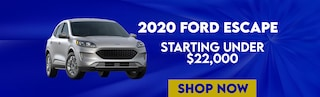 Get a New 2020 Ford Escape starting under $22,000