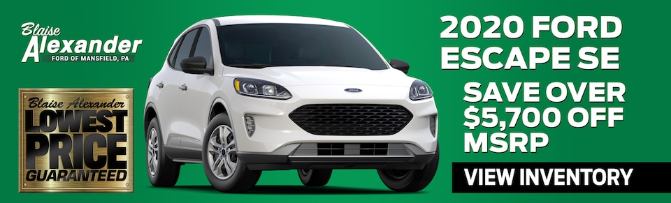 Find Your New Ford Escape Today at Blaise Alexander Ford in Mansfield, PA