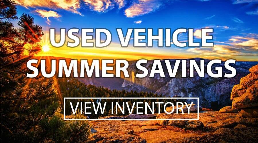 Used Summer Savings Specials
