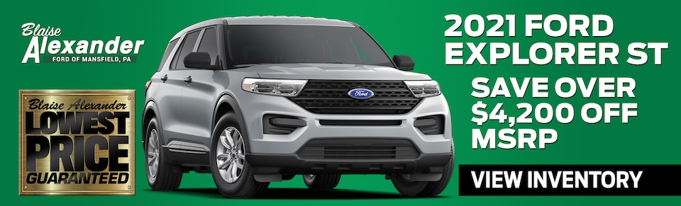 Find Your New Ford Explorer Today at Blaise Alexander Ford in Mansfield, PA