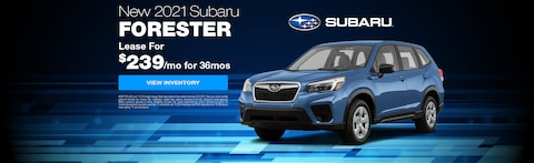 Lease a New 2021 Subaru Forester for as low as $239/month for 36 months