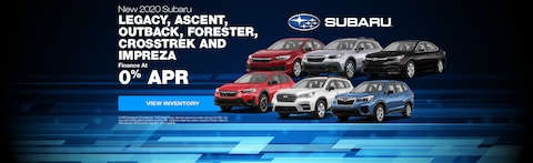 Finance as low as 0% on Select 2020 Subaru Inventory