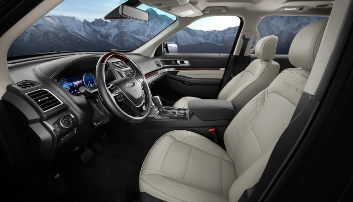 Spacious interior of the 2019 Ford Explorer