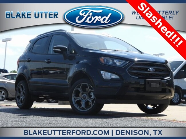 New 2018 Ford EcoSport SES SUV For Sale/Lease Denison, TX
